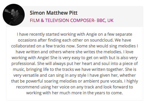 Featured Testimonial from Simon Matthew Pitt